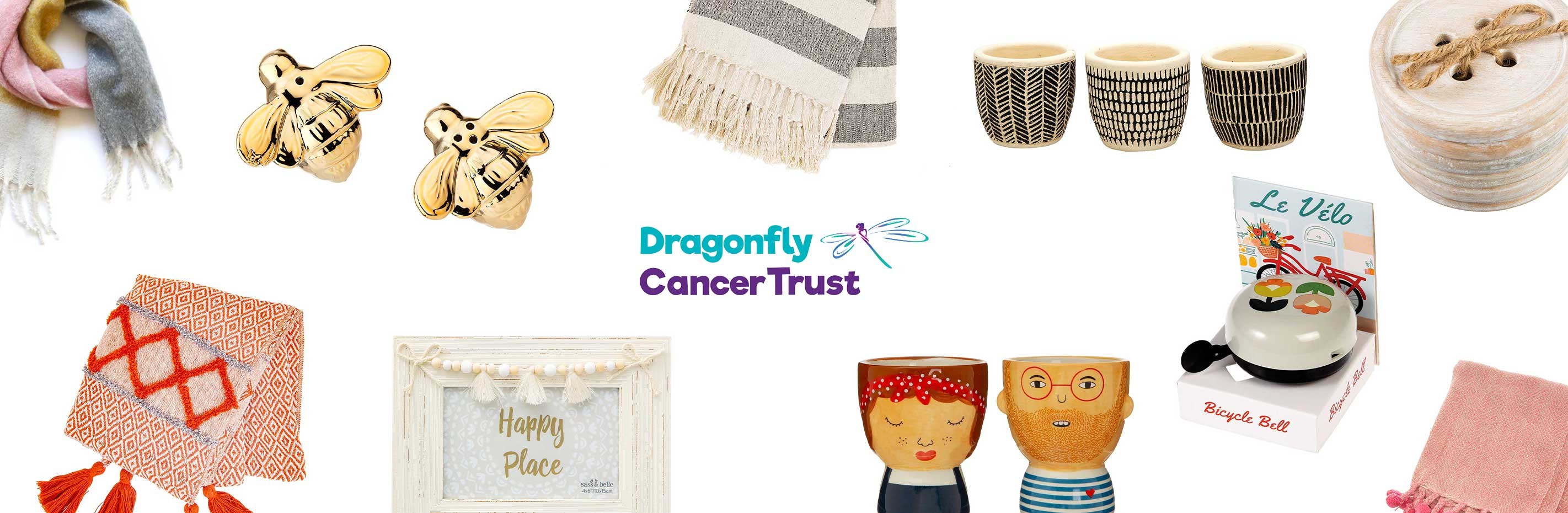 Shop for happy things with Dragonfly Cancer Trust