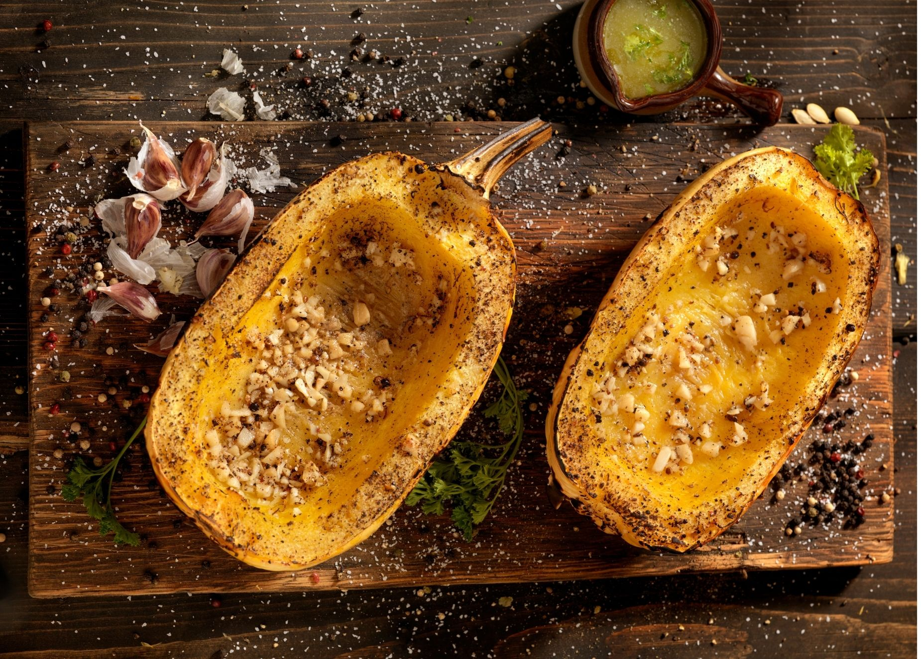 Easy and indulgent stuffed and roasted squash