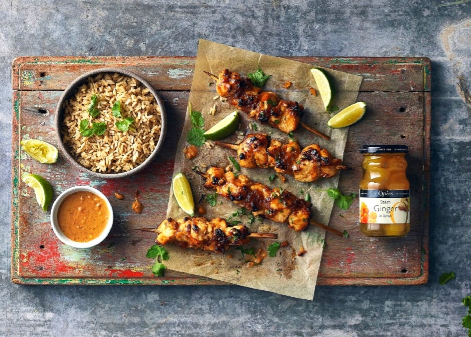 Mid-Week Menu – Ginger chicken satay skewers