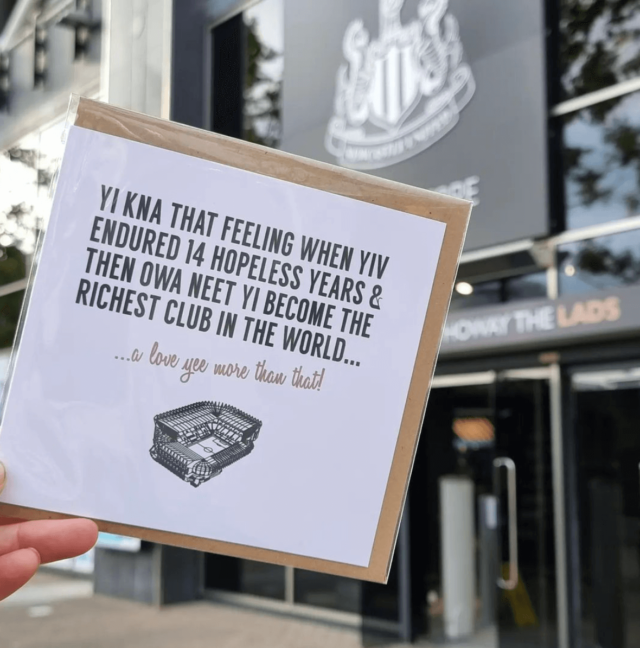 GEORDIE GIFTS NUFC TAKEOVER CARD 2