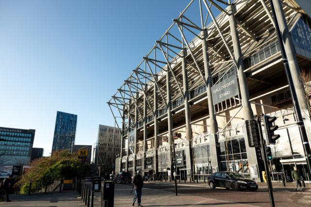 St James Park exterior. Football (soccer) stadium for Newcastle United